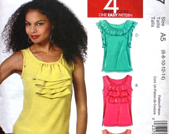 Top with Front Ruffles Bust 30 .5 - 34