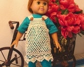 Crocheted Lace dress for 18 inch dolls