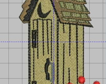 Outhouse Embroidery Desing