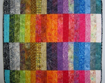 BATIK BANDS Modern Quilt from Quilts by Elena Wall Hanging Table Runner