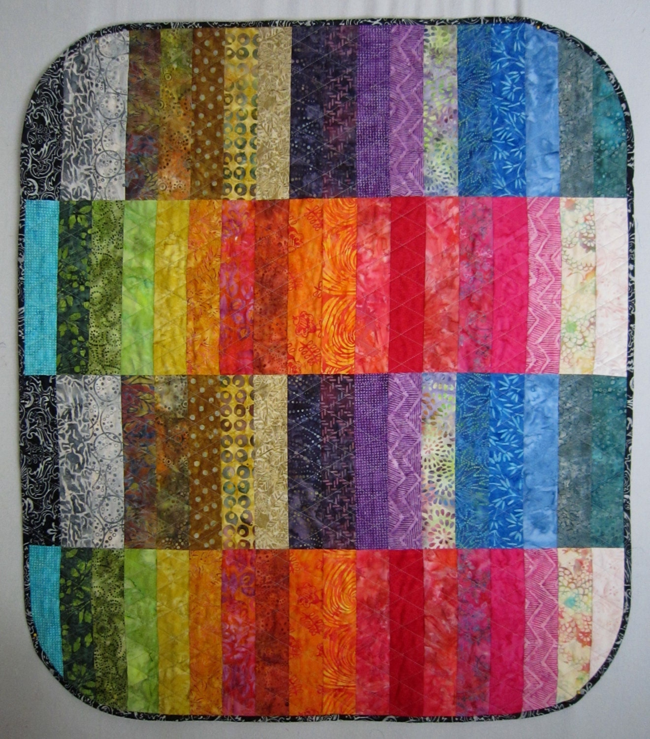 BATIK BANDS Modern Quilt From Quilts By Elena Wall Hanging