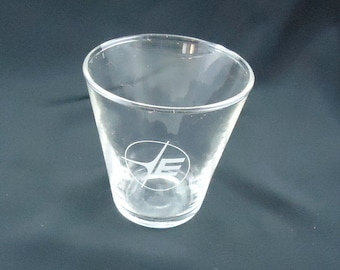 Eastern Airlines Big E Rare prototype Logo shot glass