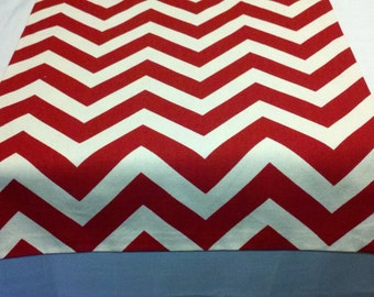 RED CHEVRON  TABLE Runner- Chevron red and white zig zag runner. wedding, bridal, shower, party, 4th of july, decor