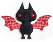 Bat softie sewing pattern PDF