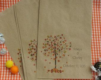 Wedding Favor Bags - Rustic Wedding - Favor Bags - Fall Wedding Favors -  Fall Favor Bags -  Candy Bags -  Candy Buffet Bags