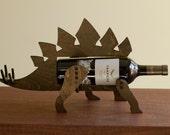 Wine-O-Saur Wooden Dinosaur Wine Rack Stegosaurus