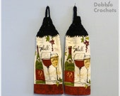 Looped Hanging Kitchen Towels Wine