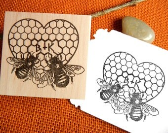 Honeycomb Stamp Etsy