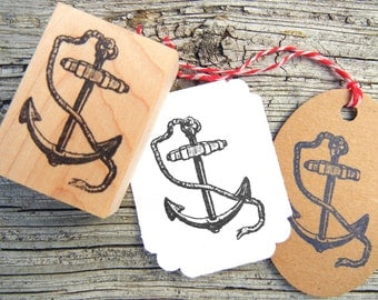 Anchor Rubber Stamp // Nautical theme Weddings, Save the Dates - Handmade by Blossom Stamps