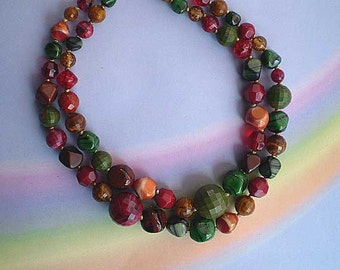 Vintage 50s Hattie Carnegie Art Glass Bead Necklace