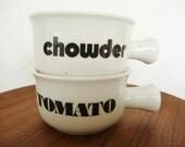 vintage soup mugs chowder tomato soup