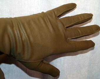 Van Raalte Beige Gloves Pleather Vintage New