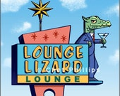 Lounge Lizard Googie Sign