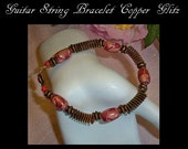 Guitar String Jewelry, Copper Glitz