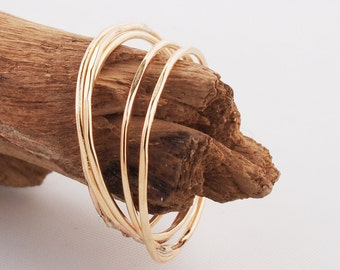 Skinny Minny Gold Rings, Ultra Thin Stacking Rings