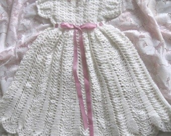 Crochet Pattern for Baby............ Christening Gown, Bonnet and Booties-31
