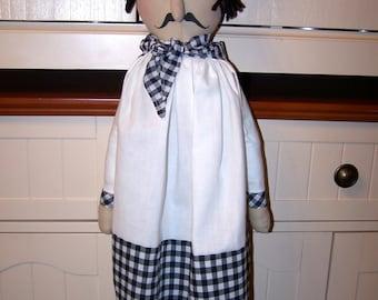 Handcrafted  Special Order ET  Chef Pierre Bag Holder Doll