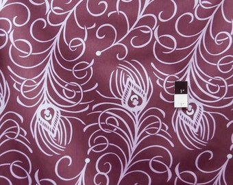 Annette Tatum SAAT006 Classica Sateen Plume Plum Cotton HOME DECOR Fabric 1 Yard