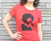 T-Shirt, Angela Davis  Black Panther Party Activist, Screen Print, XX-LARGE, Red