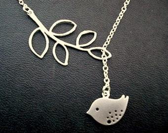 Bird Lariat Necklace