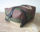 Dopp Kit, Toiletry Bag, Travel Bag, Camouflage, Handmade in Maine