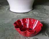 Red Speckled Tart Shaped Mini Bowl