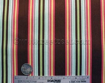 Amy Butler HAMMOCK STRIPE Mocha Cotton Quilt Fabric - by the Yard or Half Yard - Gypsy Caravan