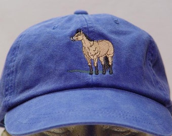 BUCKSKIN HORSE HAT - One Embroidered Men Women Cap - Price Embroidery Apparel - 24 Color Caps Available