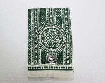 Vintage Tea Towel Kitchen Linens MWT Pineapple Butter Mold Signed