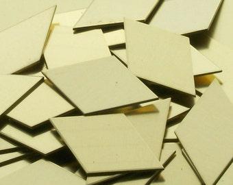 Brass Diamonds - 22 Gauge, metal stamping blanks, geometric blanks, hand stamping blanks, stamping supplies, Bopper, embossing, etching