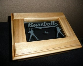 Poplar Wood Box with Baseball theme