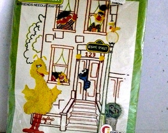 "Needlecraft KIT - Big Bird - Sesame Street 16"" X 20"" - Vintage 1977"