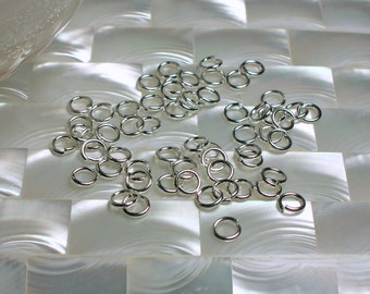 6mm OPEN 18 gauge 30pcs High Polish Silver Plated Steel Jump Rings Jewelry Jewellery Craft Supplies