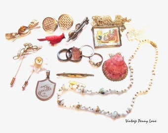 Vintage Costume Jewelry / Jewellery, Destash Lot