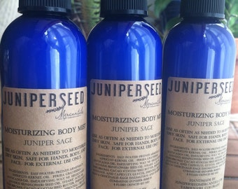 Juniper Sage Body Mist - For Moisturizing and Cleansing On The Go