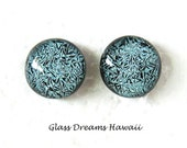 Slate Blue Glass Stud Ear...