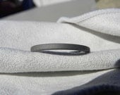 Titanium Ring, Narrow Profile Flat Band, Sandblasted Finish