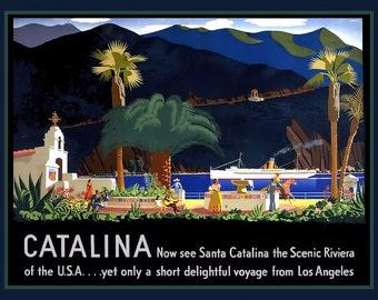 Santa Catalina California Refrigerator Magnet - FREE US SHIPPING