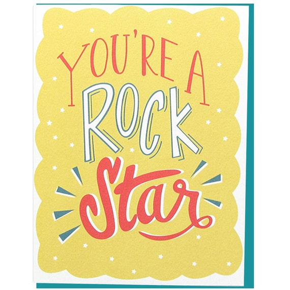 You're A Rock Star - Greeting