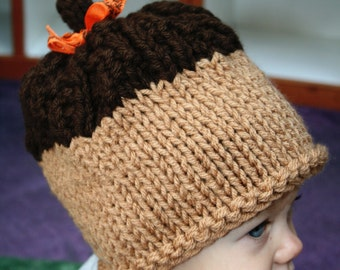 Sale-Ready to Ship-Acorn hat-18 inches-6-12 month