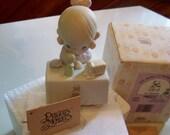 Precious Moments My Happiness Porcelain Figurine vintage Enesco 1990 symbol of membership C0010 sale