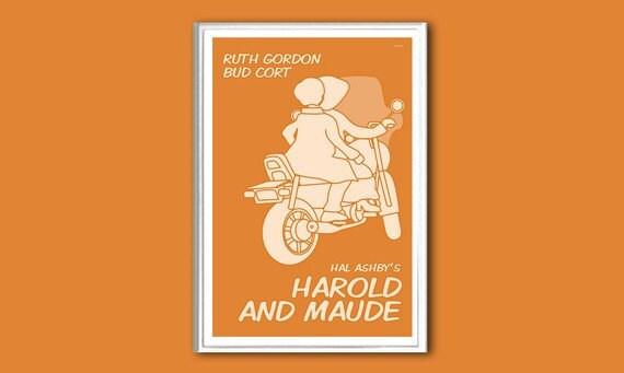 Movie poster Harold and Maude 12x18 inches retro print