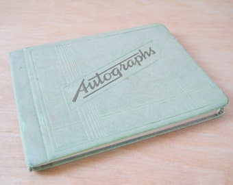 Vintage Autograph Book 1940's • Vintage Handwriting • School Autograph Book