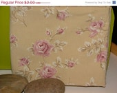 Final Clearance 75% OFF Shabby Mocha Rose - fat quarter - reclaimed sheet fabric
