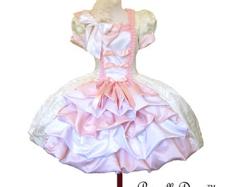 SALE Marie Kitty French In your size Ravishing Mary Antoinette Layered Tea Princess Dress Customized Colors