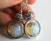 Moonstone earrings, drop earrings, wedding jewelry, bridesmaid jewelry, gift for mom,  moonstone  jewelry