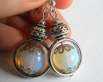 Moonstone earrings, stone earrings, moonstone jewelry, romantic jewelry, drop earrings, boho chic jewelry, gemstone jewelry, gift for mom