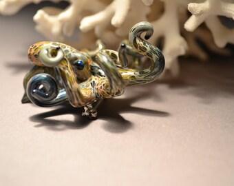 Octopus Brooch Lapel Pin  Mult-Color