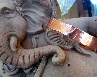 Heavy Man's Copper Cuff Bracelet