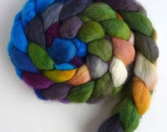 BFL Wool Roving - Hand Painted Spinning or Felting Fiber, Point of View